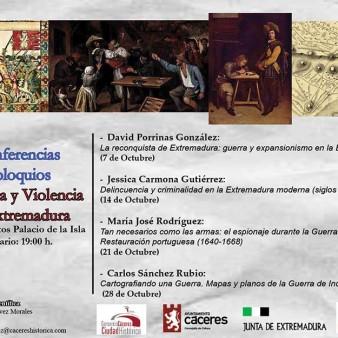 Cartel-Anunciador-Ciclo-de-Conferencias-Guerra-y-Violencia-en-Extremadura